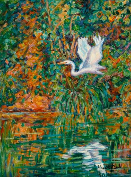 Painting - Egret Reflections by Kendall Kessler