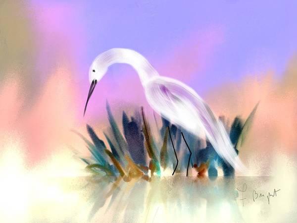 Sawgrass Digital Art - Egret Searching by Frank Bright