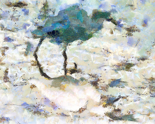 Mixed Media - Egret Shadow by Priya Ghose