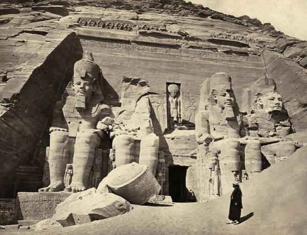 Wall Art - Photograph - Egypt Abu Simbel, C1858 by Granger
