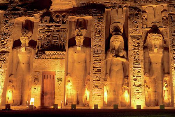 East Africa Wall Art - Photograph - Egypt, Abu Simbel, The Temple Of Hathor by Miva Stock