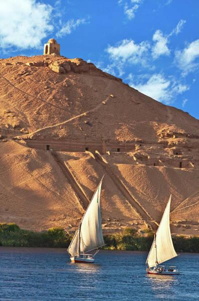 East Africa Wall Art - Photograph - Egypt, Aswan, Nile River, Felucca by Miva Stock