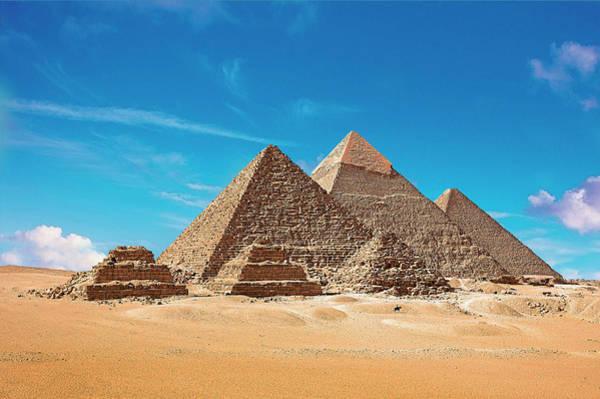 Ancient Egypt Photograph - Egypt, Cairo, Giza, View Of All Three by Miva Stock
