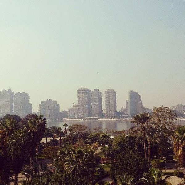 Wall Art - Photograph - #egypt #cairo #landskape #blue by Mohamed Elkhamisy