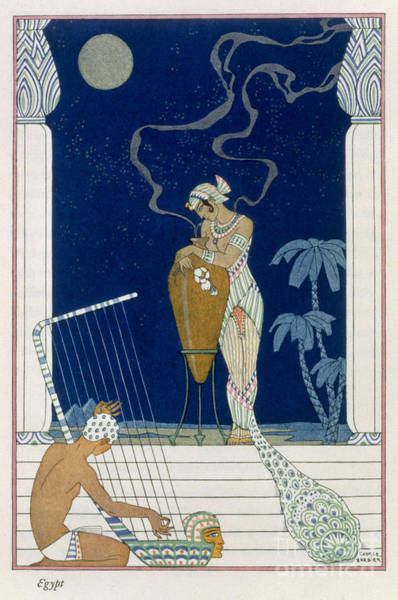 Stencil Painting - Egypt by Georges Barbier