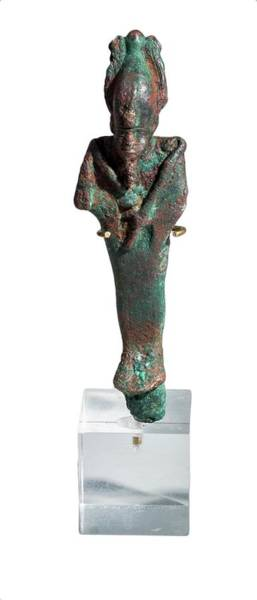Ancient Egypt Photograph - Egyptian Bronze Osiris by Photostock-israel