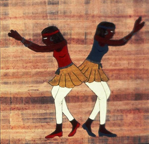 Painting - Egyptian Dancers by Karen Buford