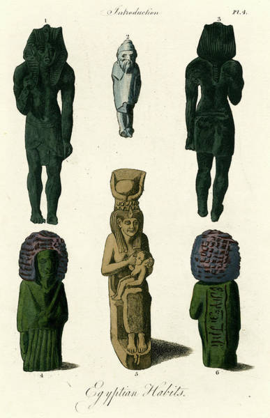 Egyptian Figurines          Date Art Print