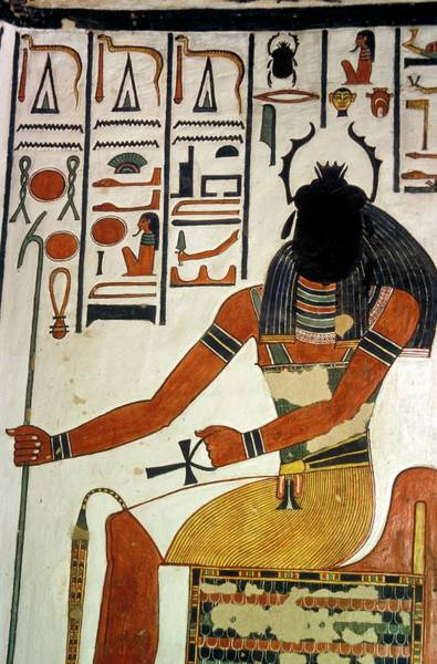 Hieroglyph Photograph - Egyptian God Khepri by Patrick Landmann/science Photo Library