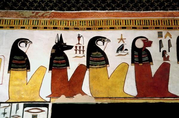 Wall Art - Photograph - Egyptian Gods by Patrick Landmann/science Photo Library