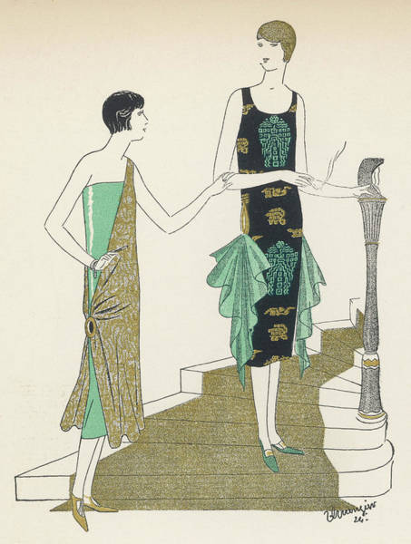1924 Drawing - Egyptian Influence by Mary Evans Picture Library