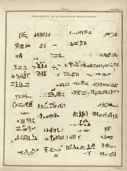 Inscription Photograph - Egyptian Manuscript Fragments by Middle Temple Library