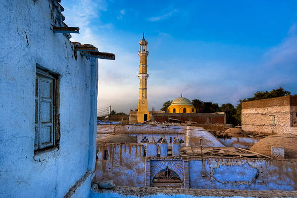 Wall Art - Photograph - Egyptian Village Minaret At Dusk by Mark Tisdale