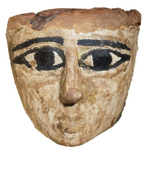 Ancient Egypt Photograph - Egyptian Wooden Mask by Photostock-israel