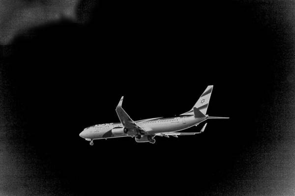 Mixed Media - Ei Al Airlines by Doc Braham