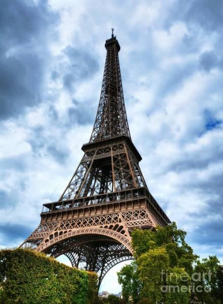 Photograph - Eiffel Tower In Paris by Mel Steinhauer