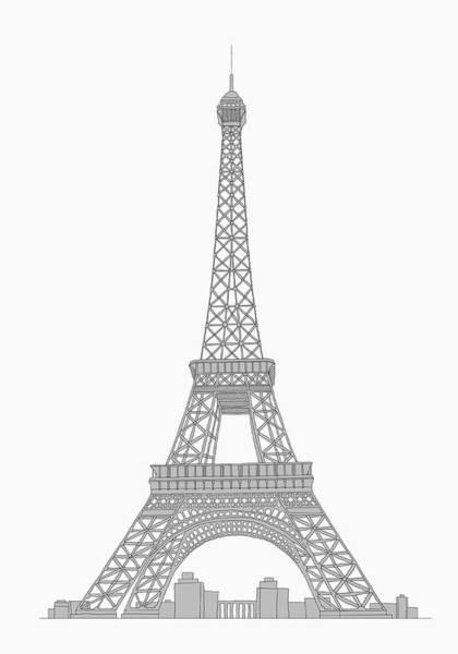 Exterior Digital Art - Eifel Tower by Malte Mueller
