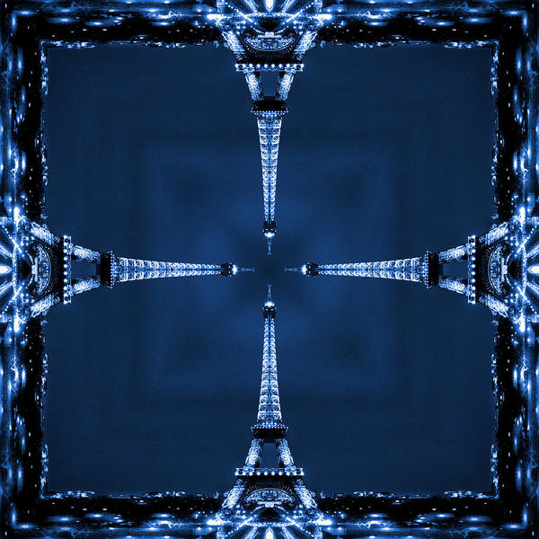 Square Tower Photograph - Eiffel Art 27 by Mike McGlothlen