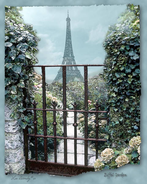 Photograph - Eiffel Garden In Blue by Lee Owenby