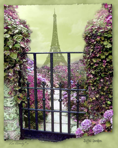 Photograph - Eiffel Garden by Lee Owenby