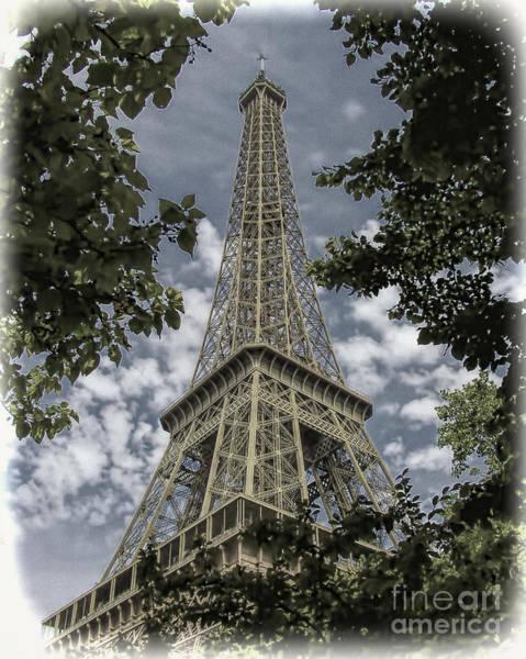 Photograph - Eiffel Through Trees by Ken Johnson