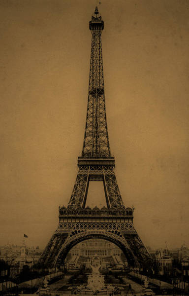 Photograph - Eiffel Tower 1889 by Andrew Fare