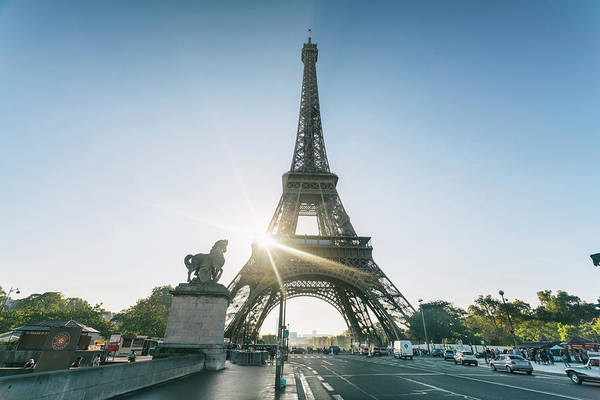 Wall Art - Photograph - Eiffel Tower Against Clear Sky, Paris by Tamboly Photodesign