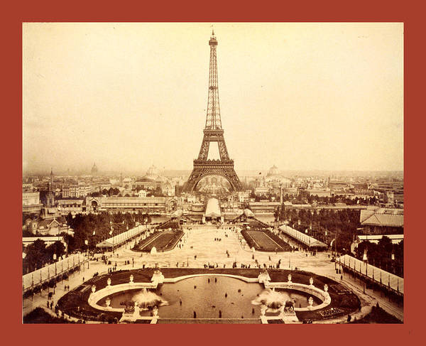 Wall Art - Photograph - Eiffel Tower And Champ De Mars Seen From Trocadro Palace by English School