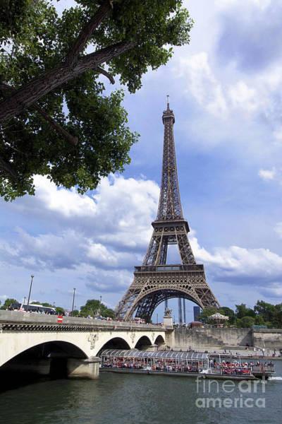 Wall Art - Photograph - Eiffel Tower And River Seine. Paris. France by Bernard Jaubert