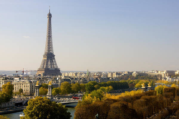 Paris France The Eiffel Tower Art Print