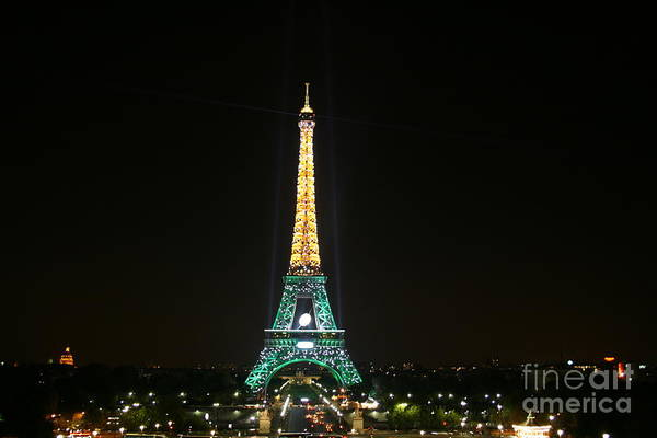 Photograph - Eiffel Tower At Night by Crystal Nederman