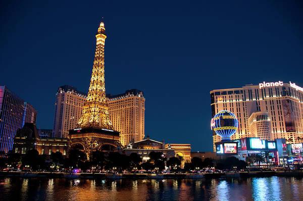 Las Vegas Photograph - Eiffel Tower At The Paris Hotel In Las by Mitch Diamond