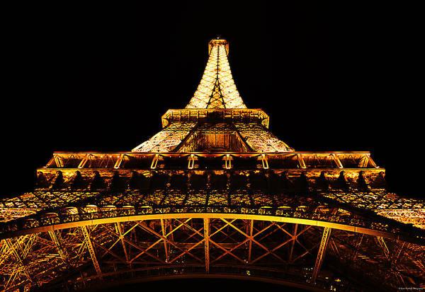 Photograph - Eiffel Tower By Night by Ryan Wyckoff