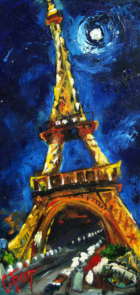 Wall Art - Painting - Eiffel Tower by Carole Foret
