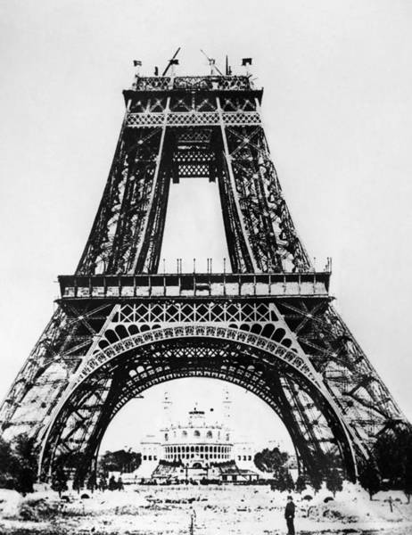 Photograph - Eiffel Tower Construction by Granger