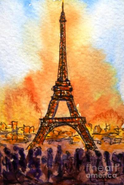 Painting - Eiffel Tower by Cristina Stefan