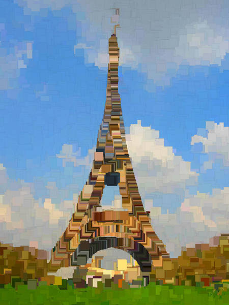 Post-it Painting - Eiffel Tower France by Bruce Nutting