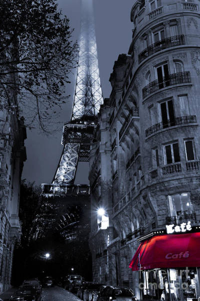 Fog Digital Art - Eiffel Tower From A Side Street by MGL Meiklejohn Graphics Licensing