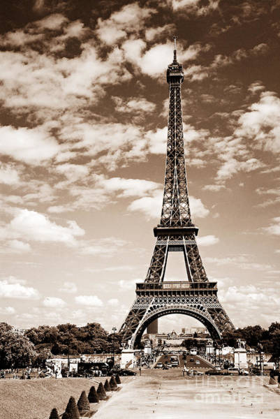 Wall Art - Photograph - Eiffel Tower In Sepia by Elena Elisseeva