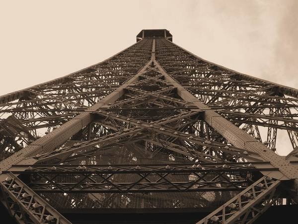 Autobus Photograph - Eiffel Tower In Sepia by Scott Carda