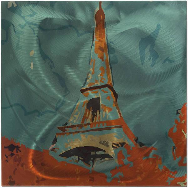 Land Mark Mixed Media - Eiffel Tower  by Metal Art Studio