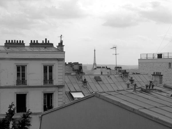 Autobus Photograph - Eiffel Tower Over The Rooftops by Scott Carda