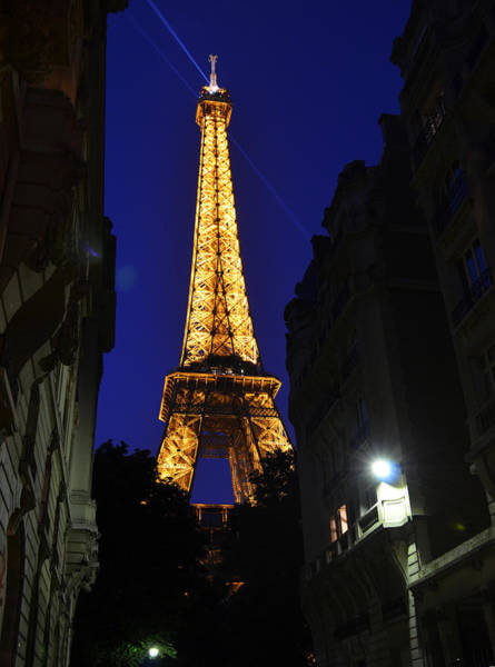 Photograph - Eiffel Tower Paris France At Night by Patricia Awapara