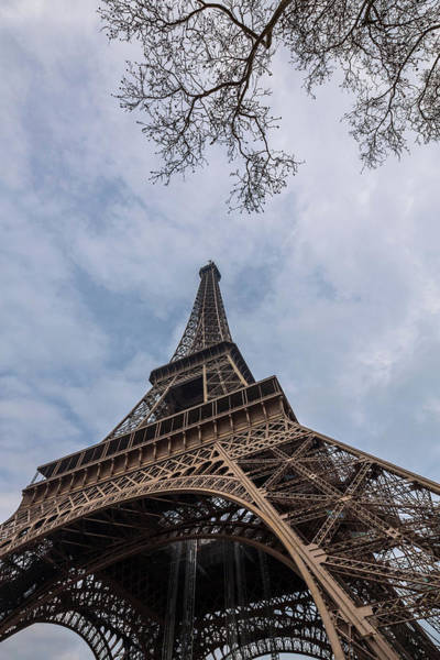 Vertical Perspective Photograph - Eiffel Tower, Paris, France by Oscar Bjarnason