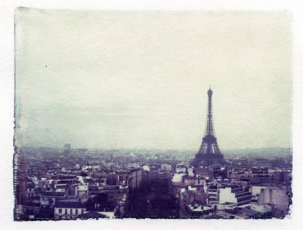 Linder Wall Art - Photograph - Eiffel Tower Paris Polaroid Transfer by Jane Linders