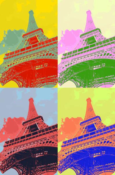 Work Of Art Digital Art - Eiffel Tower - Pop Art by Patricia Awapara