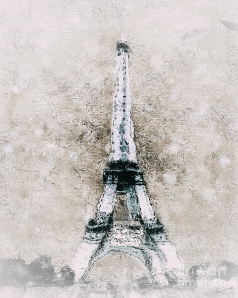 Wall Art - Painting - Eiffel Tower Wall Art by Shanina Conway