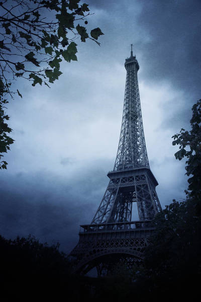 Gloomy Wall Art - Photograph - Eiffel Tower by Cambion Art