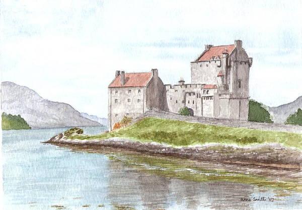 Eilean Donan Castle Painting - Eilean Donan Castle by Anne Oxley