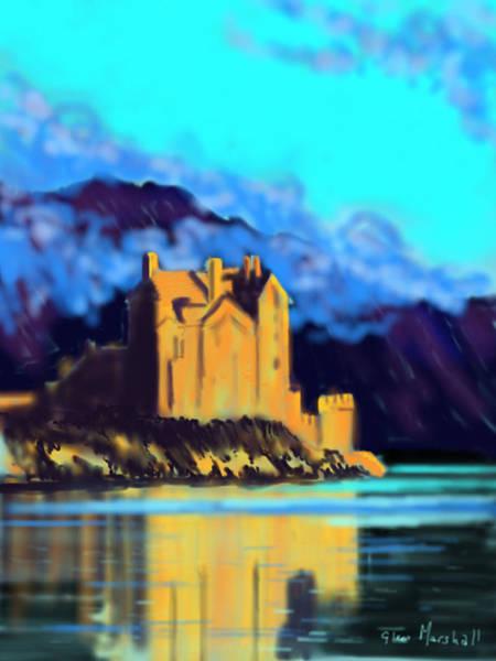 Painting - Eilean Donan Castle by Glenn Marshall
